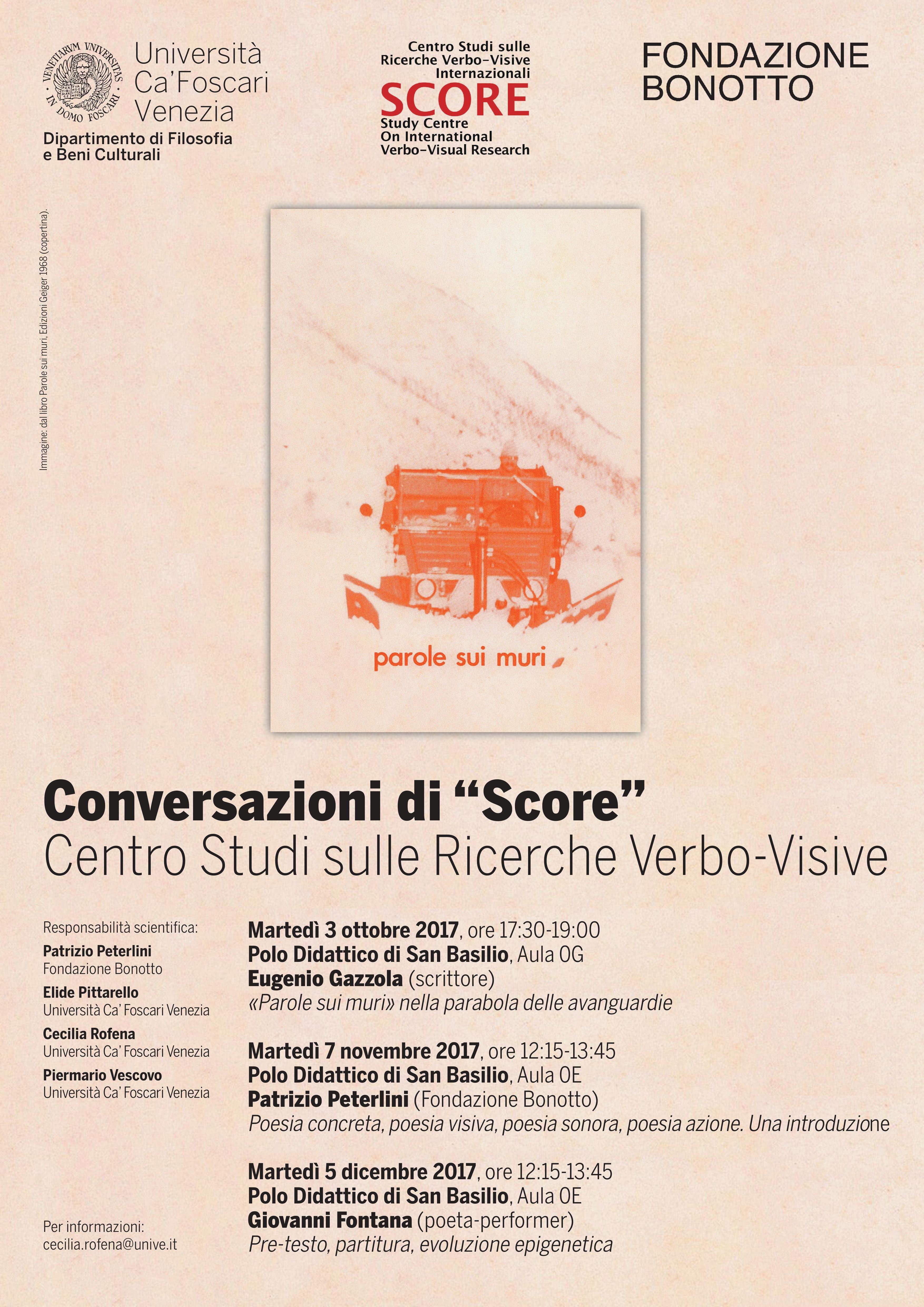 Conversazioni di Score - Fontana ESCAPE='HTML'